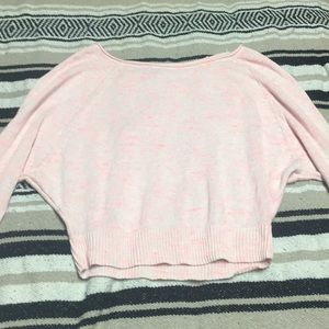 American outfitters pink cropped sweater